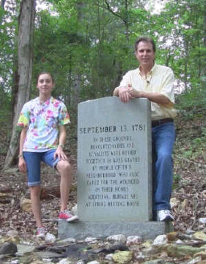 Anna and I hiked up the creek to the site of the Battle of Lindley's Mill.